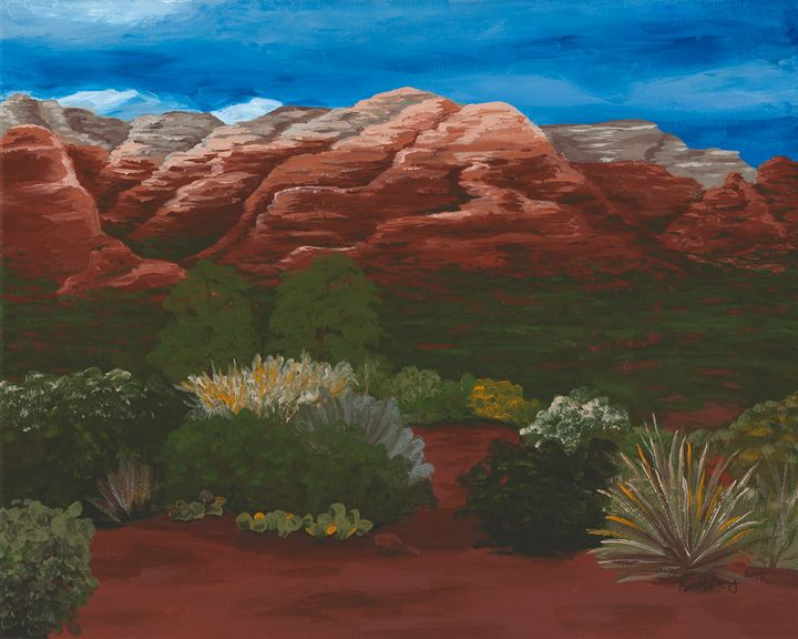 Stormy Red Rock - Desert Life Studio