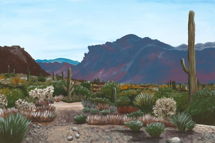 Superstition Mountain from Blevins - Desert Life Studio
