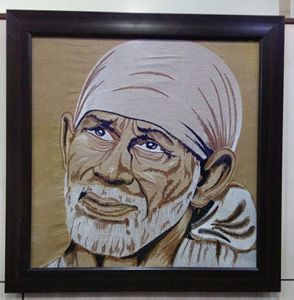 God Saibaba Embroidery Artwork