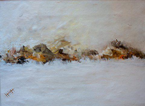 Rocky Coastline In White - Art At The Ridge (Antigua & Barbuda)