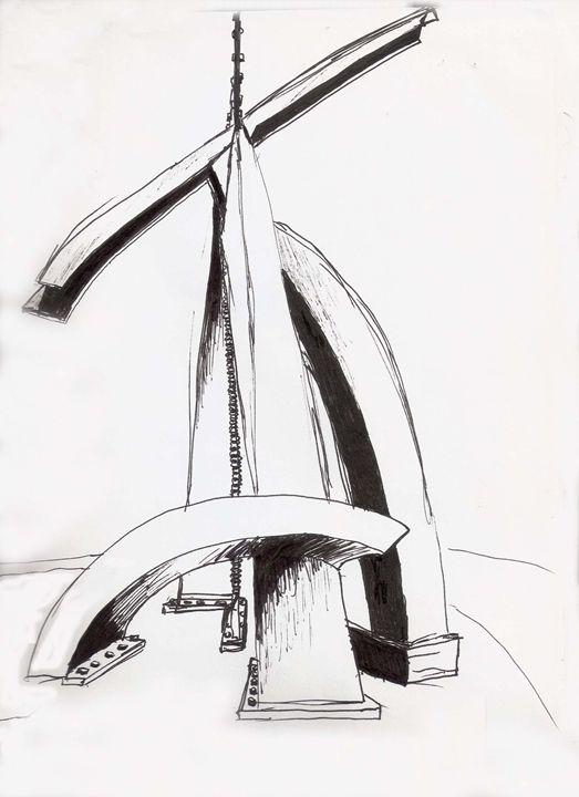 houston sculpture sketch - studewood - marksart