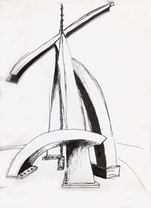 houston sculpture sketch - studewood