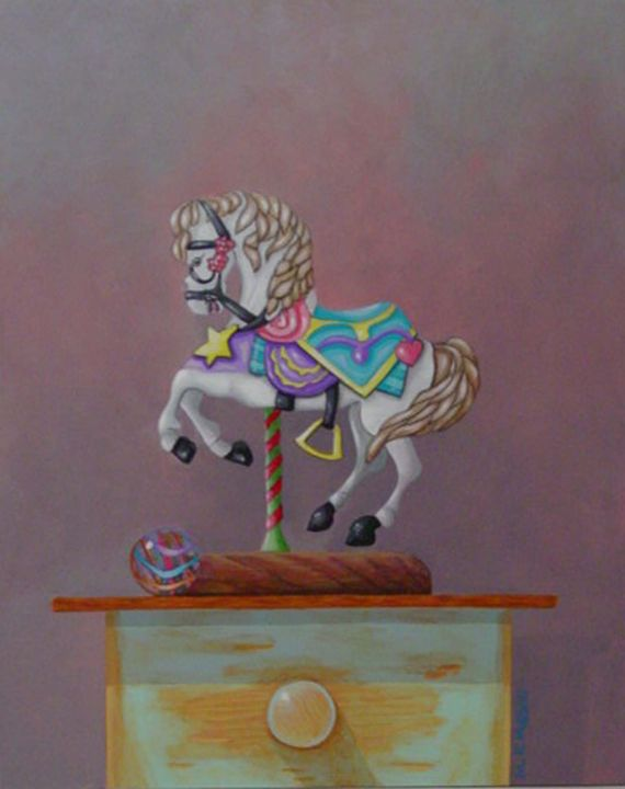 """Carousel"" 8""x10"" acrylic - Matthew K Moran"