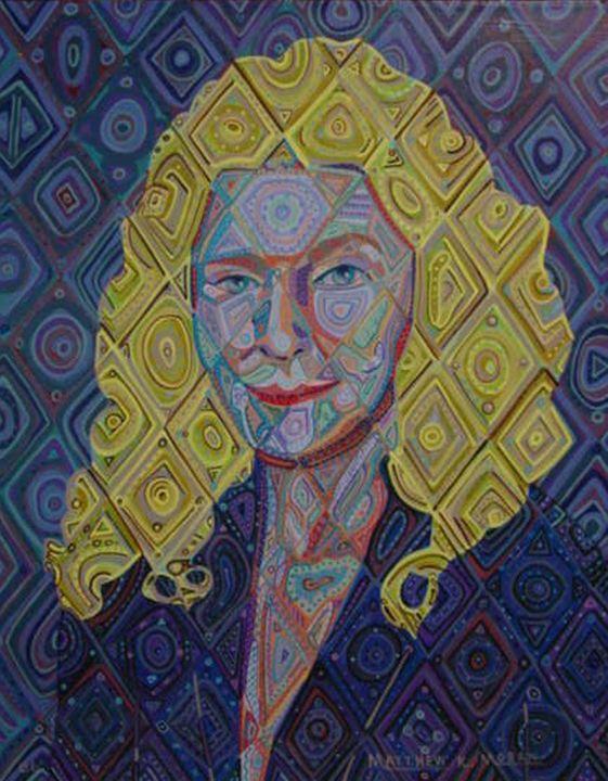 """Judy"" acrylic on canvas - Matthew K Moran"