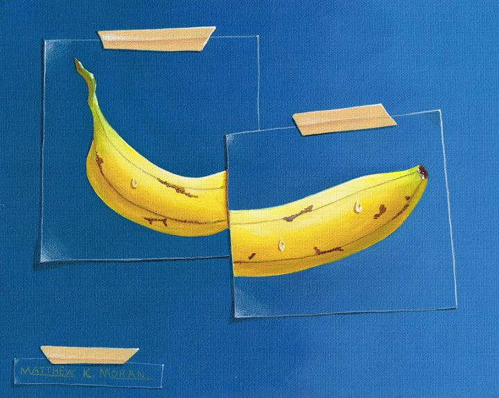 """Taped Banana 2"" acrylic - Matthew K Moran"