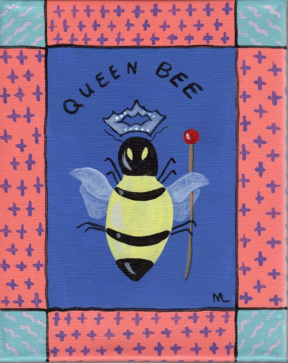 """Queen Bee"" acrylic - Matthew K Moran"