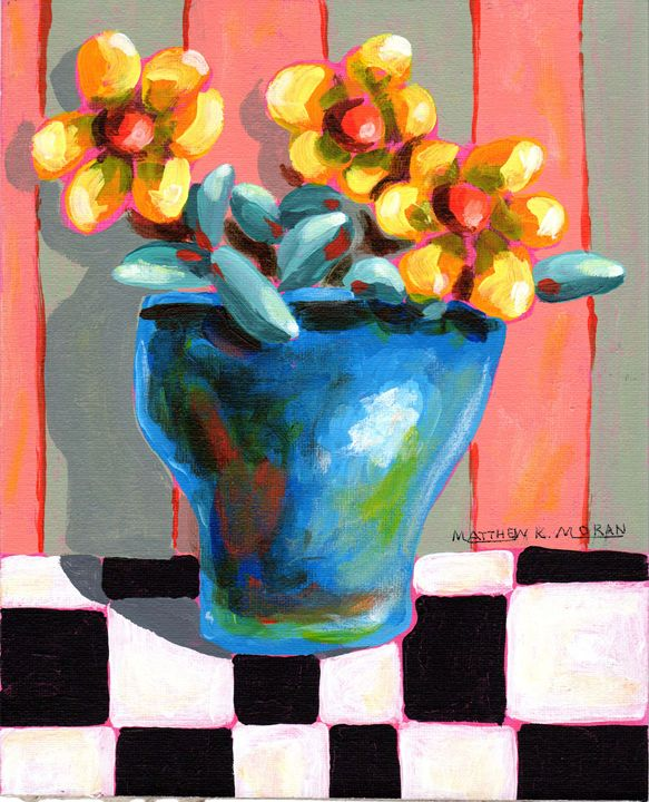 """Yellow Flowers in Blue Vase"" - Matthew K Moran"