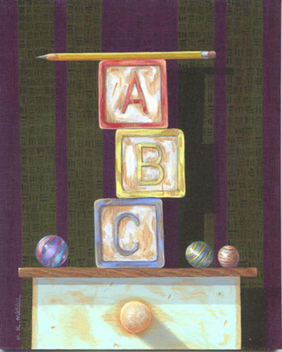 """ABC"" 8""x10"" acrylic - Matthew K Moran"