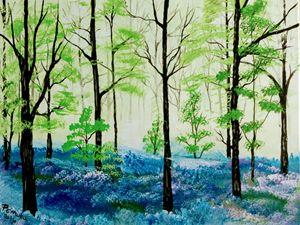 Spring blue  forest