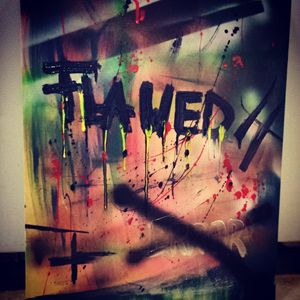"""16x20"" Abstract Graffiti Work"