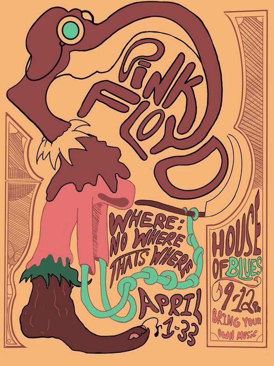 Pink Floyd Poster - Inks & Doodles
