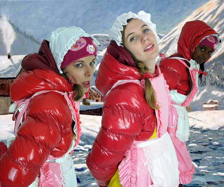 three alps maids - maids in plastic clothes
