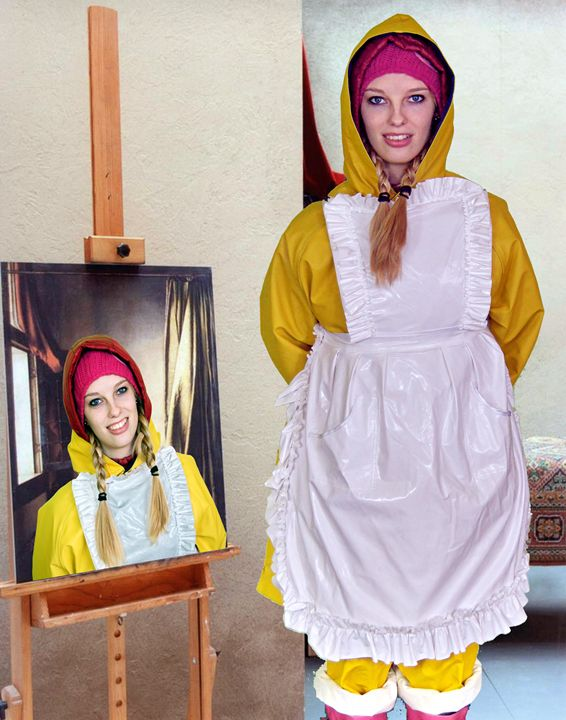 paint in paint maid swantjezulma - maids in plastic clothes