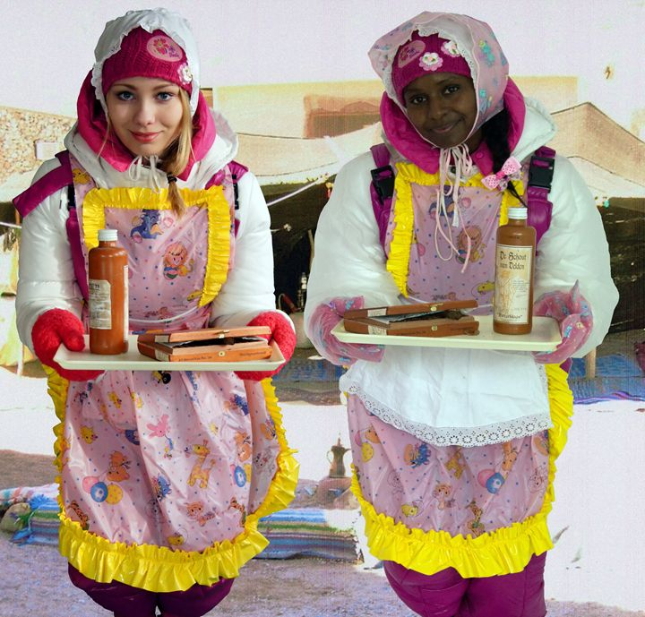 maids in oriental oasis - maids in plastic clothes