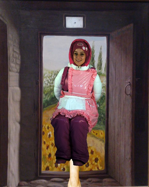 maid birgitzulma on pale - maids in plastic clothes