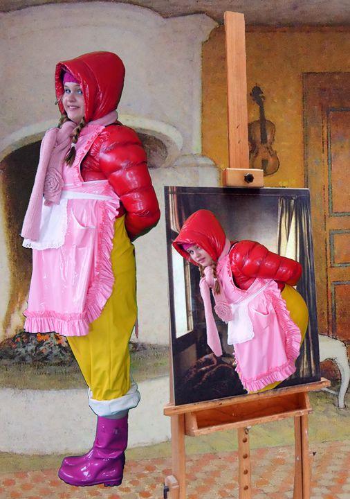 maid slatinajaline - maids in plastic clothes