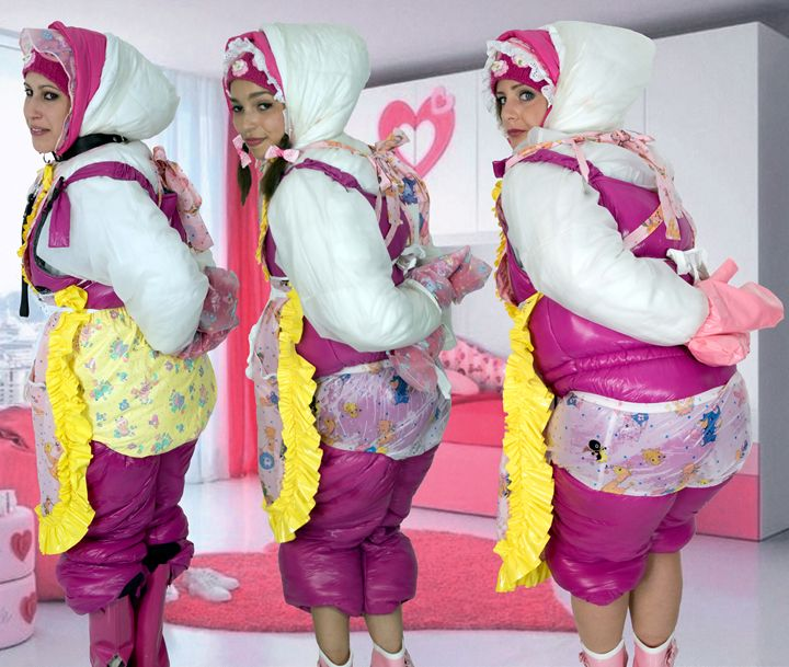 three barbie-maids - maids in plastic clothes