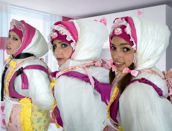 three barbie maids - maids in plastic clothes
