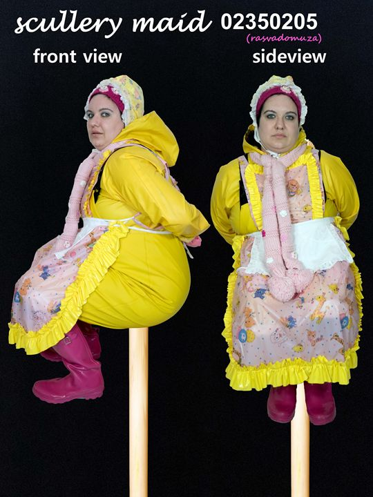 die schöne Katalog-Zofe rasvadormuza - maids in plastic clothes