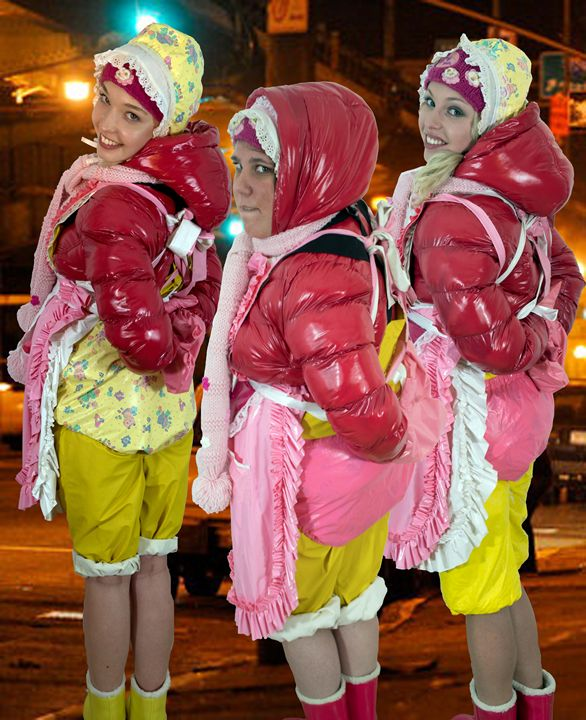 working maids - maids in plastic clothes