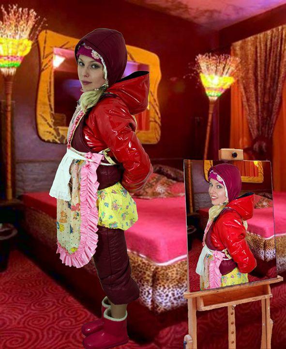 brothel-maid zulmapadrusnika - maids in plastic clothes