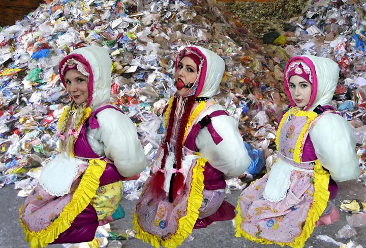 beautiful maids - maids in plastic clothes