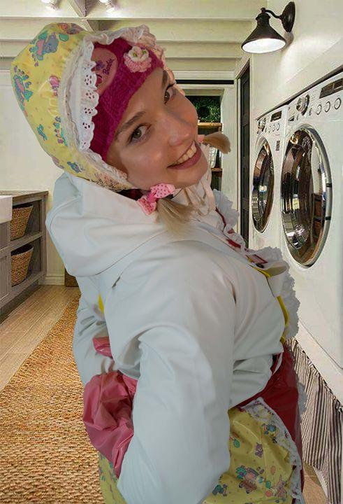 washerwoman dermapadrusnika - maids in plastic clothes