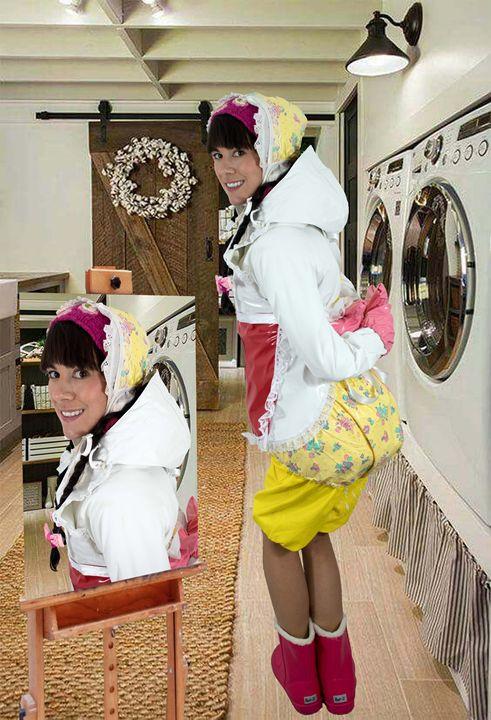 washerwoman lickaskita - maids in plastic clothes