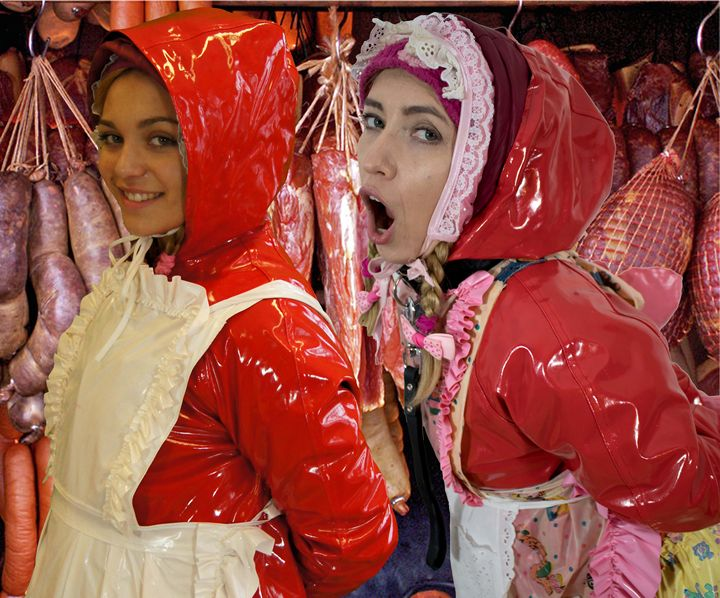Wurstmädchen - maids in plastic clothes