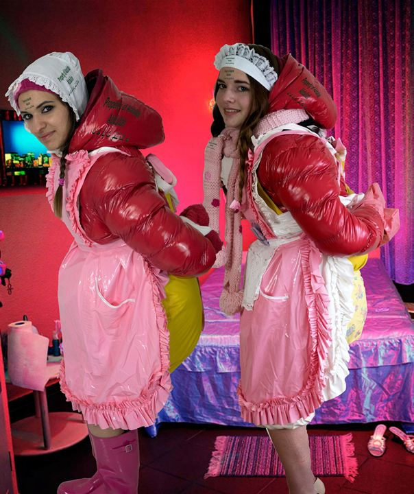 2 bagged whores of pimp Hassan - maids in plastic clothes