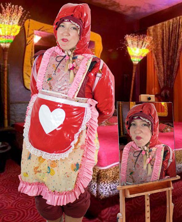 Die schöne Gummihure kaaspakket - maids in plastic clothes