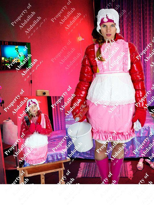 charwoman smöra-lydiga - maids in plastic clothes