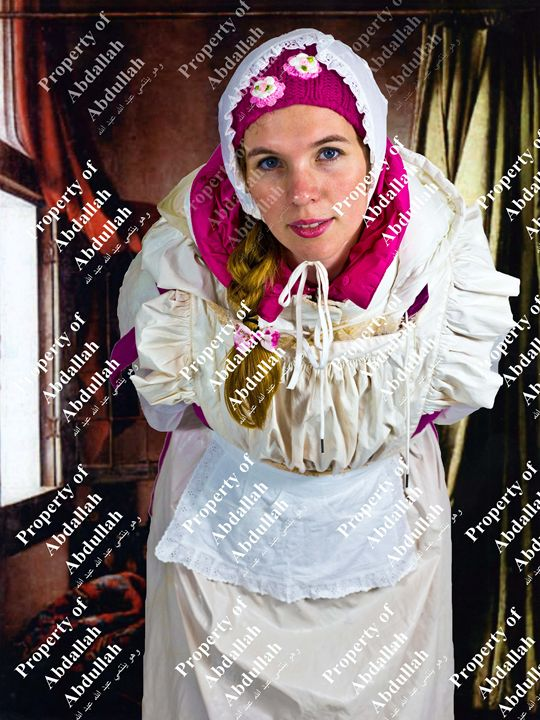 scullerymaid ready for service - maids in plastic clothes
