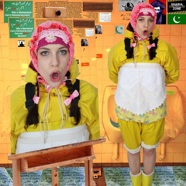 Sarı lastik tuvalet - maids in plastic clothes