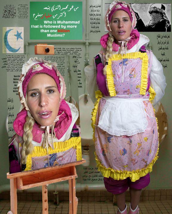 المرأة ملفوفة في المطاط - maids in plastic clothes