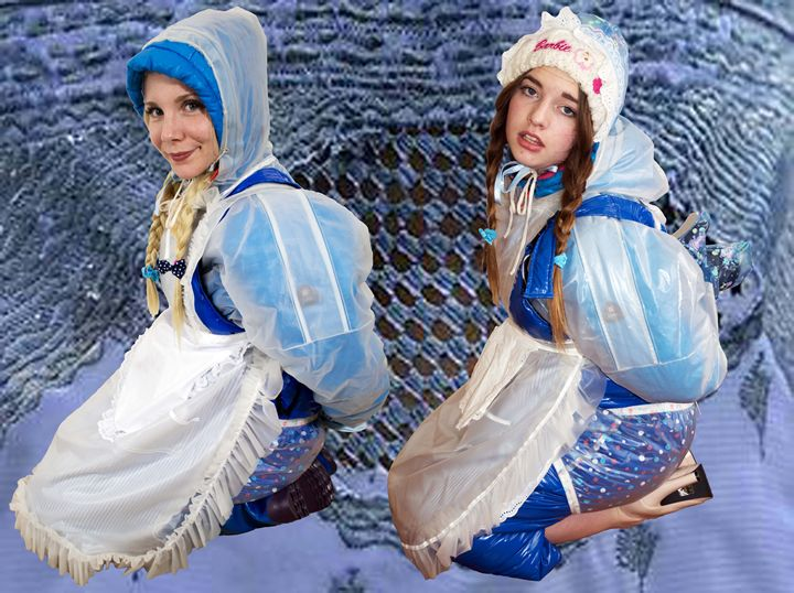 maids imbecila and flabbyzulma - maids in plastic clothes