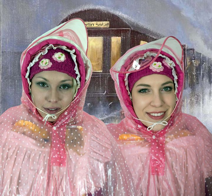 sister-maids in arabic Berlin - maids in plastic clothes