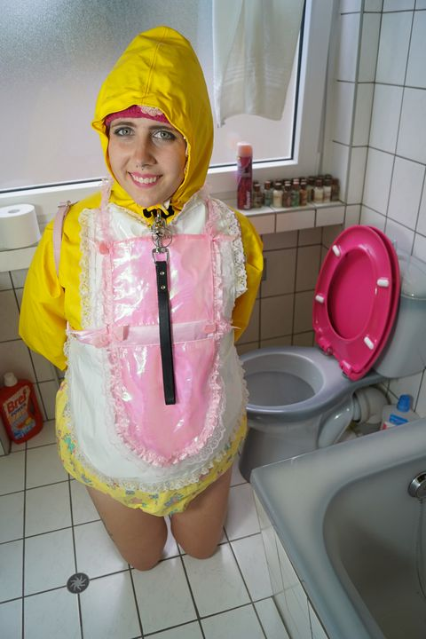 adultbaby girl bimbozulma - maids in plastic clothes
