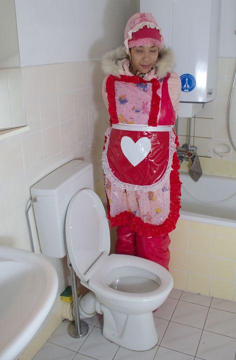 How cute: vonjutschaja shljucha - maids in plastic clothes