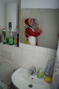 Gumminutte im Spiegel