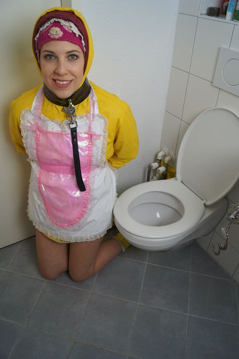 toiletgirl fahişezulma - maids in plastic clothes