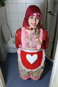 穿着红色雨衣的妓女