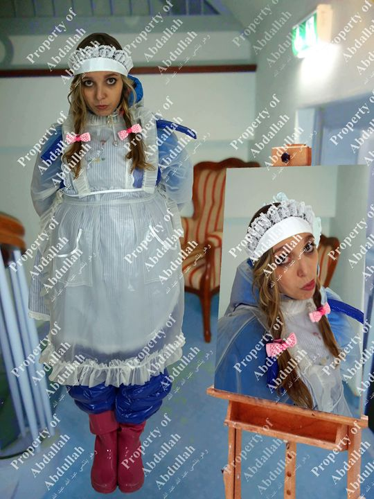 frenchmaid in hotel - maids in plastic clothes