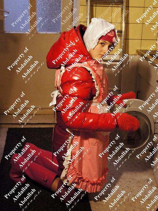 washerwoman choka-candy - maids in plastic clothes