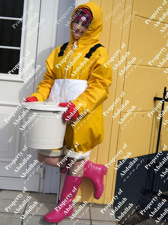 scullerymaid coka candy - maids in plastic clothes
