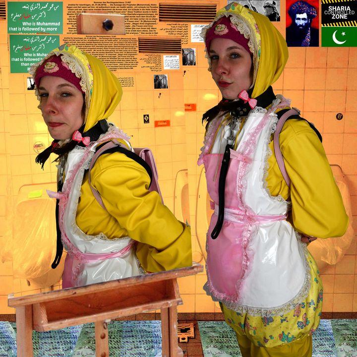 Отходы бока йиена фахиша - maids in plastic clothes