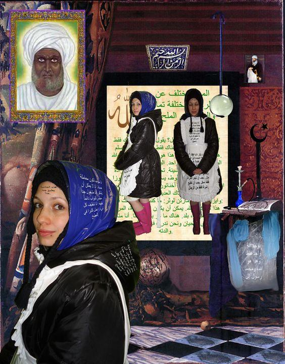عاهرة مملوكة من قبل مسلم - maids in plastic clothes