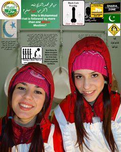 ハラール:イスラム教徒のためのキリスト教の女の子