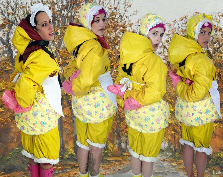 autumnmaids - maids in plastic clothes