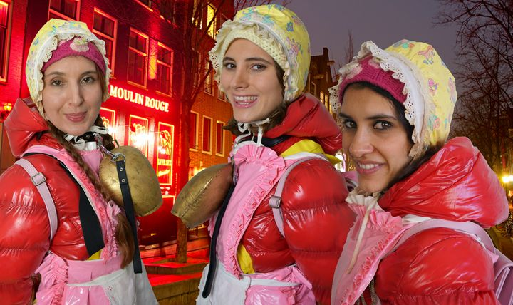 dutch whores and their brothel - maids in plastic clothes